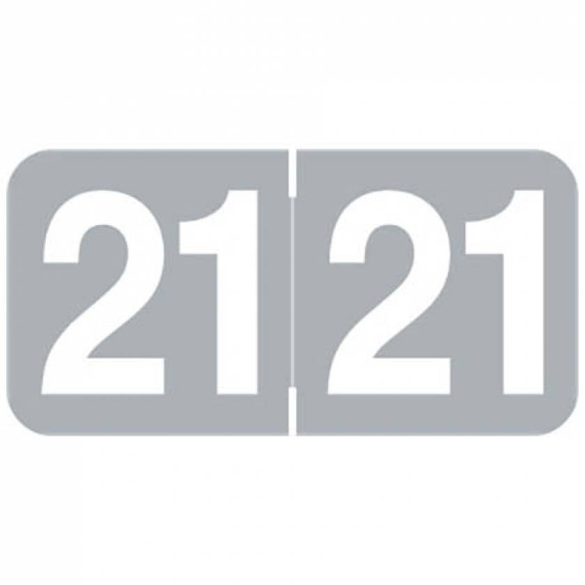 """2021 Year Labels - Ames Compatible - Size 3/4"""" H x 1 1/2"""" W"""