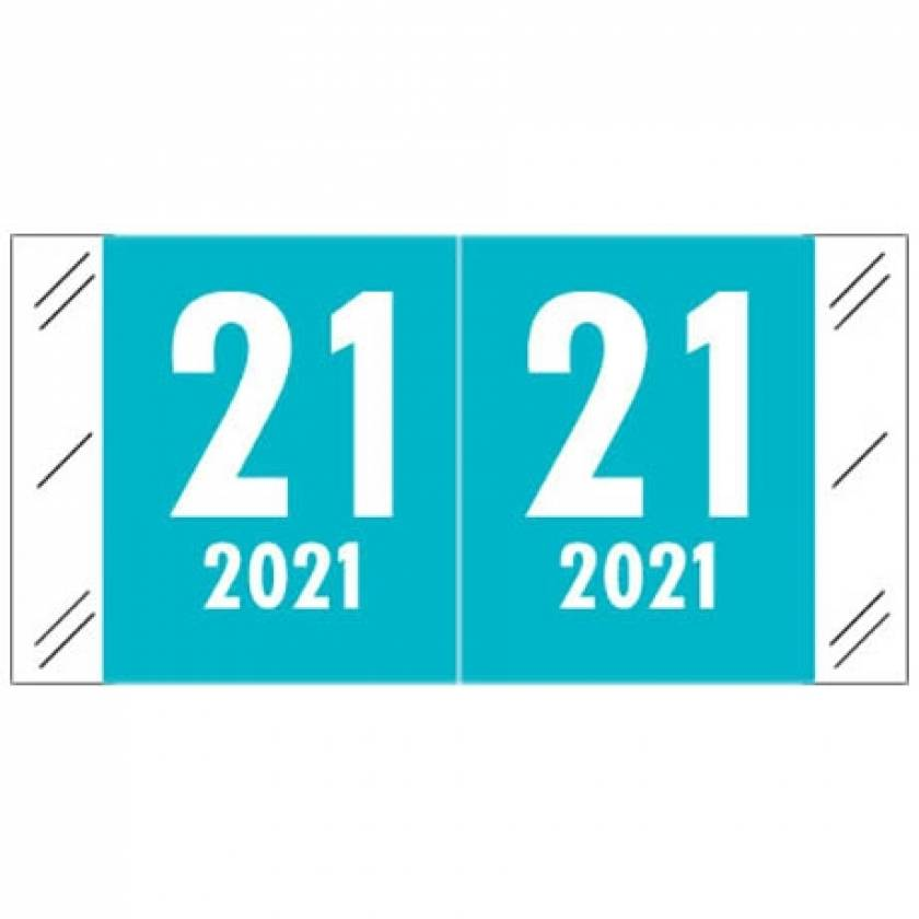 """2021 Year Labels - Col'R'Tab Compatible - Size 3/4"""" H x 1 1/2"""" W"""