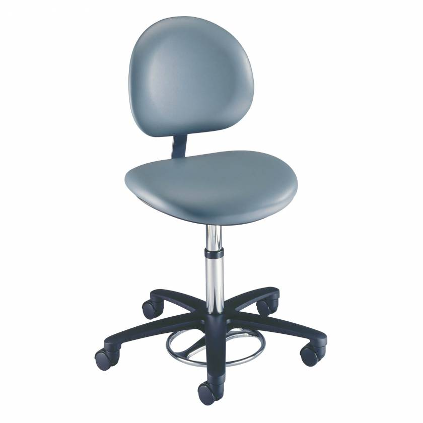 Model 21340B Millennium Seamless Upholstery Surgeon Stool With Backrest
