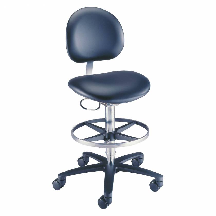 Model 21521B Millennium Backrest Laboratory Stool With Casters