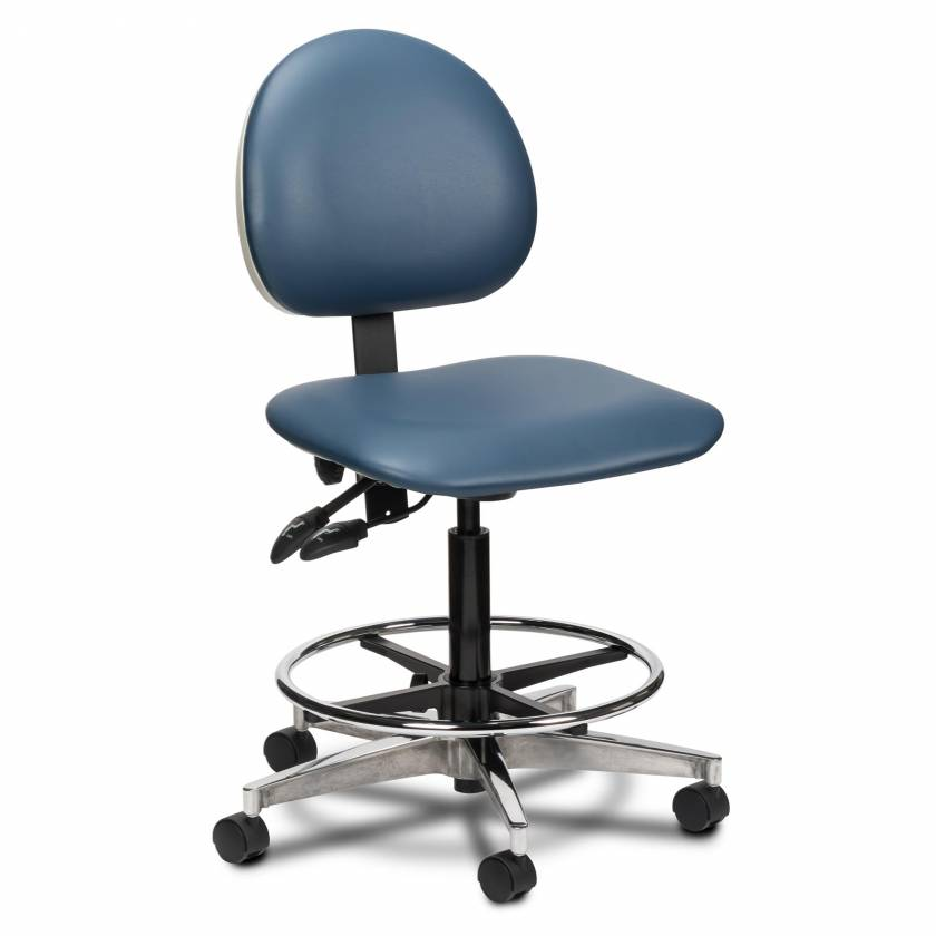 Clinton Model 2166W Lab Stool With Contour Seat and Backrest