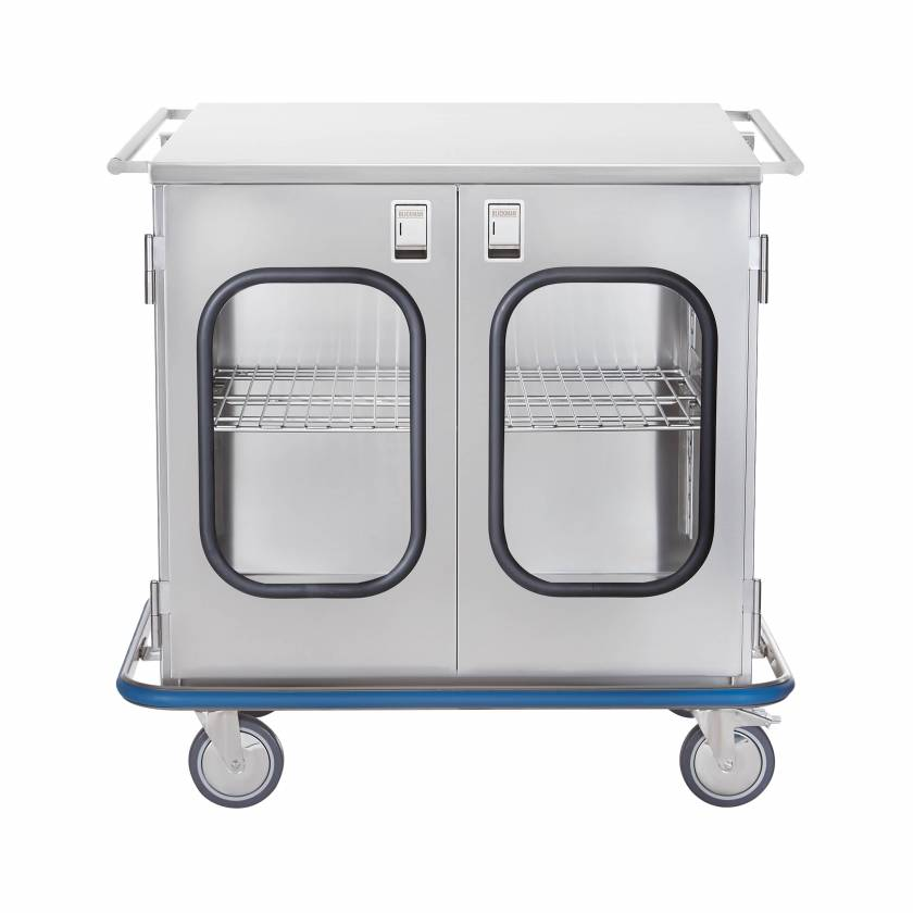 Blickman Stainless Steel Multi-Purpose Case Cart Model CCC2-19G with Double Glass Doors