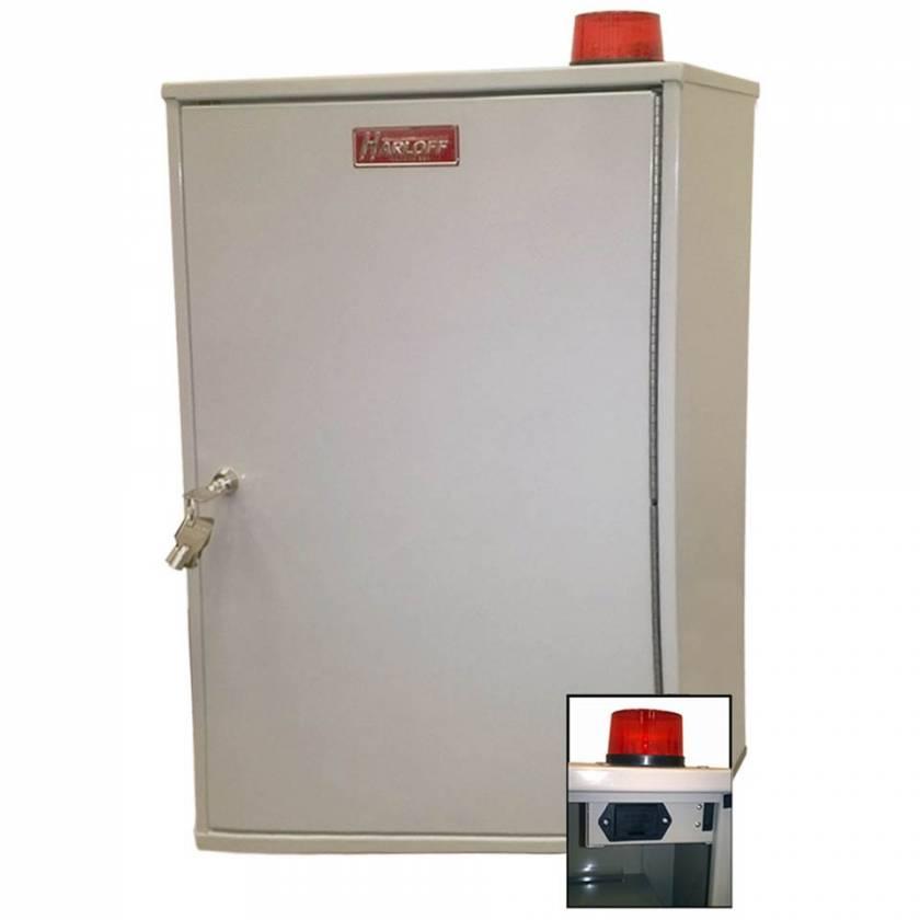 "Harloff 27AVD03 Audio/Visual Alarm Narcotics Cabinet, Double Door Double Lock, 26""H x 16""W x 8""D"
