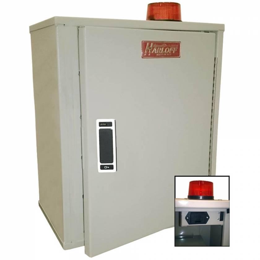"Harloff 27AVD20DIGIPROX Audio/Visual Alarm Narcotics Cabinet, Single Door Single Digilock Electronic RFID Proximity Reader, 18""H x 12""W x 8""D"