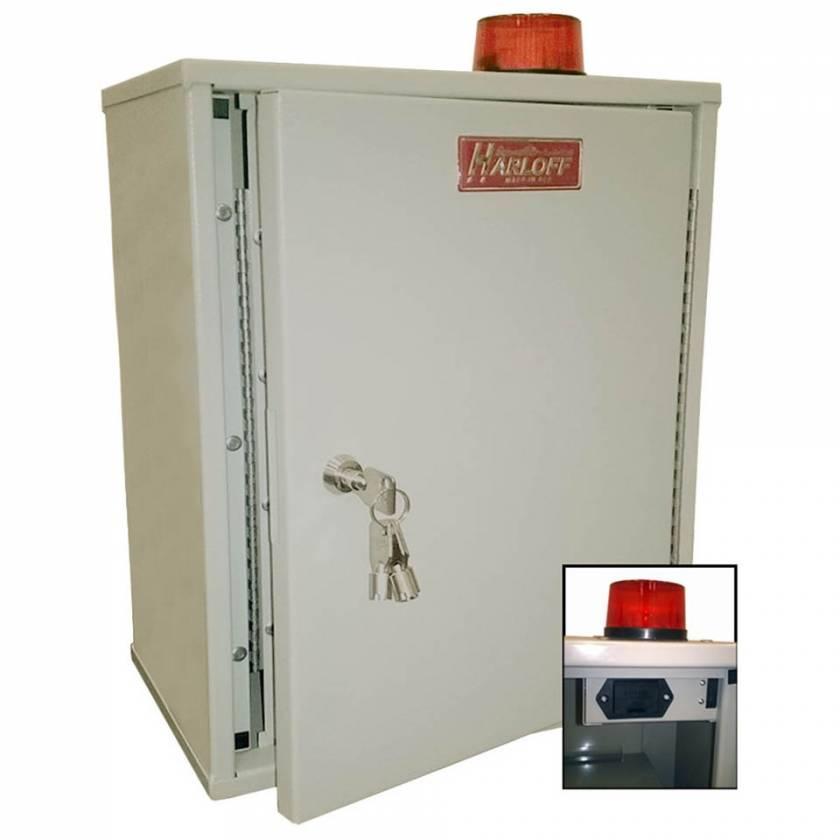 "Harloff 27AVD20 Audio/Visual Alarm Narcotics Cabinet, Double Door Double Lock, 18""H x 12""W x 8""D"