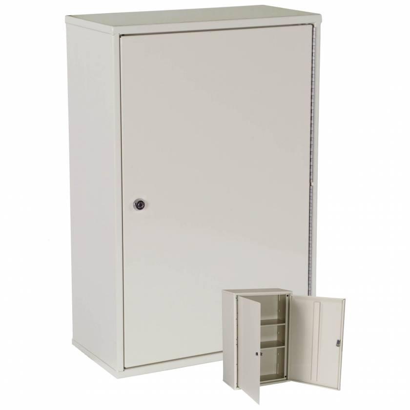 "Harloff 2803AQ Heavy Duty Narcotics Cabinet, Double Door Double Lock, Tall Profile 24""H x 16""W x 8""D"