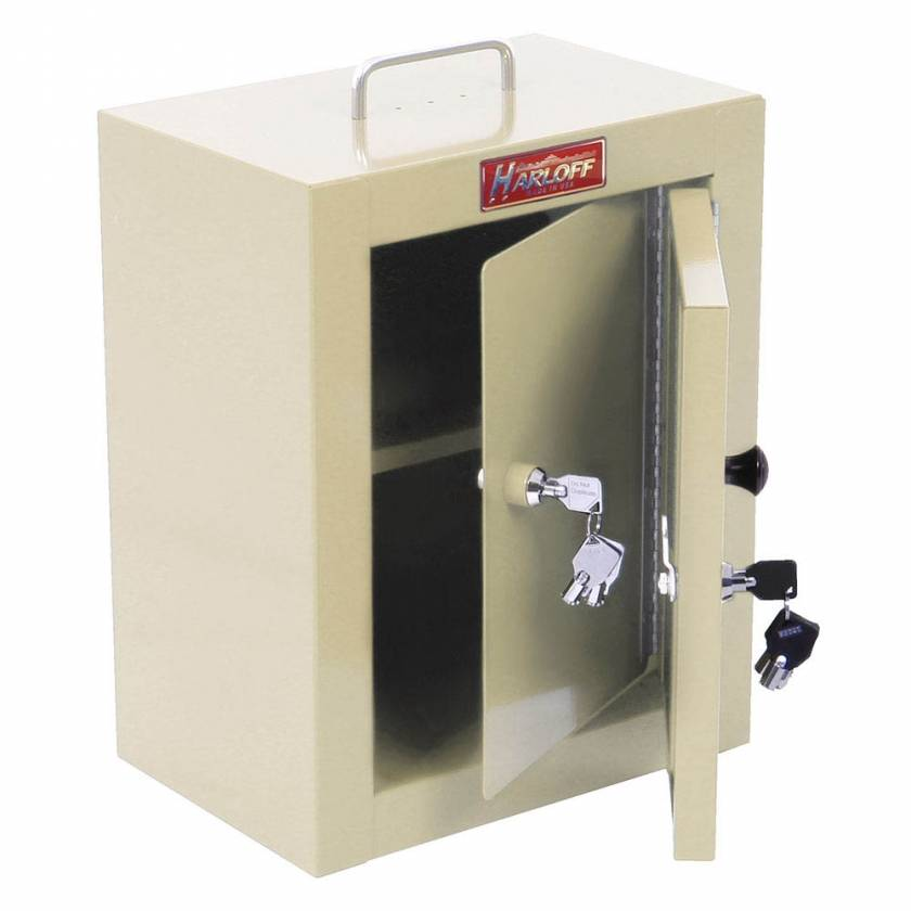 "Harloff 2820AQ Medium Narcotics Cabinet, Double Door Double Lock, 16"" H x 12"" W x 9"" D"