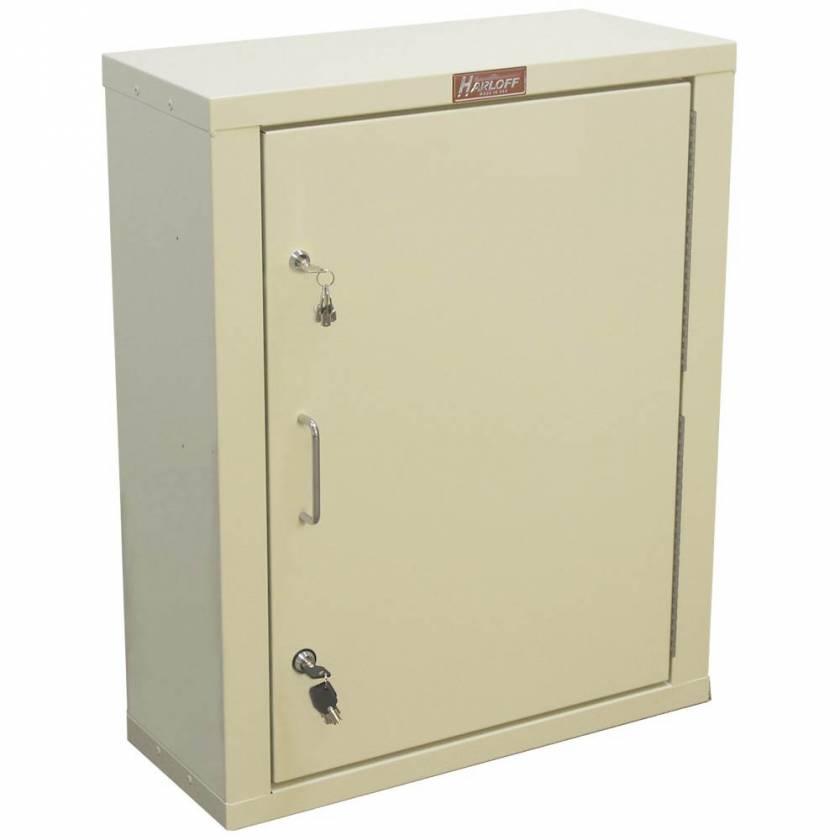 "Harloff 2830AQ Large Narcotics Cabinet, Single Door Double Lock, 29.5""H x 23.5""W x 10.5""D"