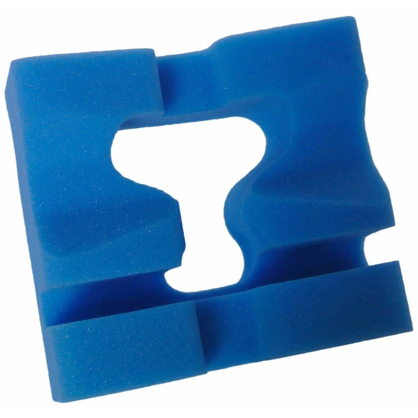 """Disposable Slotted Prone Head Foam Positioner - 8.5"""" x 8"""" x 4"""" Thick"""