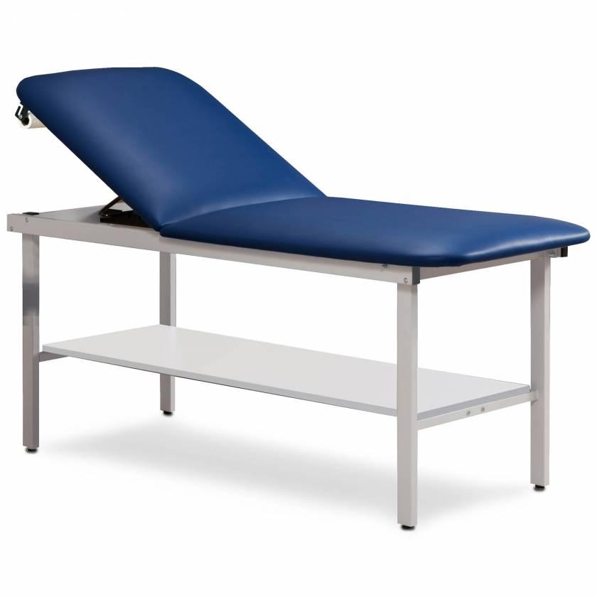 Clinton Model 3020 Alpha Series Treatment Table with Adjustable Backrest & Shelf