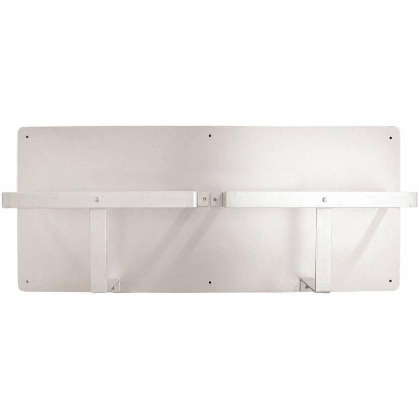 Horizontal Double Bedpan Rack - Aluminum