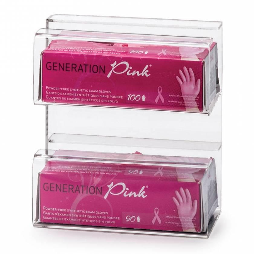 OmniMed 305327 Acrylic Top Dispensing Double Glove Box Dispenser