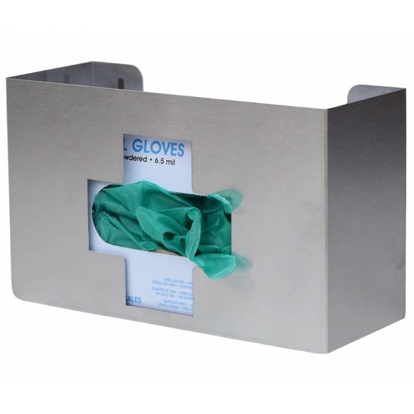 OmniMed 305335 Stainless Steel Medical Cross Single Glove Box Holder