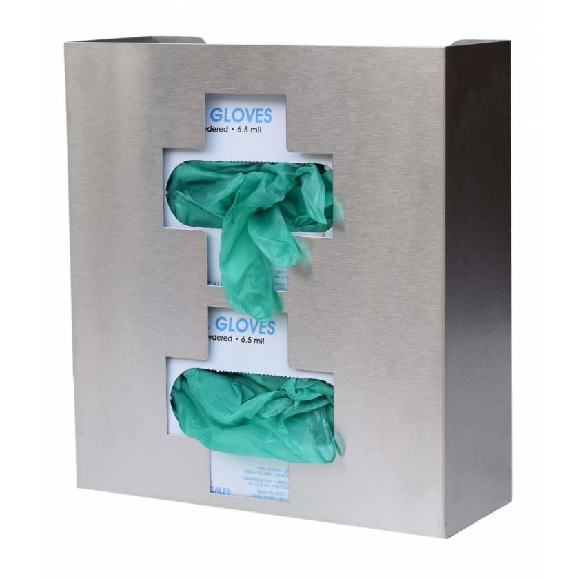 OmniMed 305336 Stainless Steel Medical Cross Double Glove Box Holder