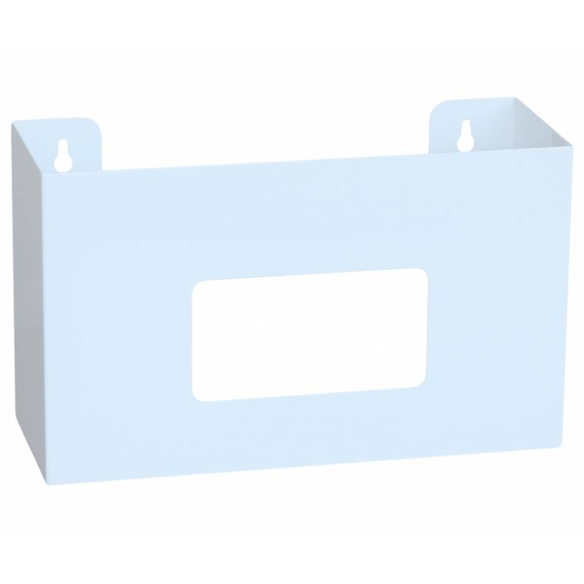OmniMed 305340 White Painted Steel Single Glove Box Holder