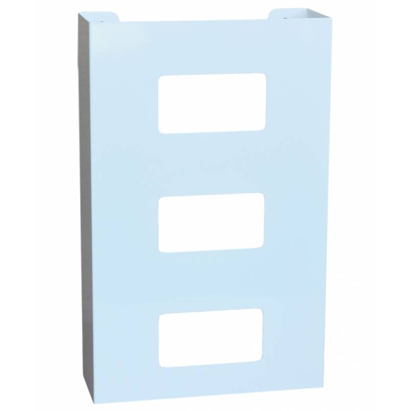 OmniMed 305342 White Painted Steel Triple Glove Box Holder