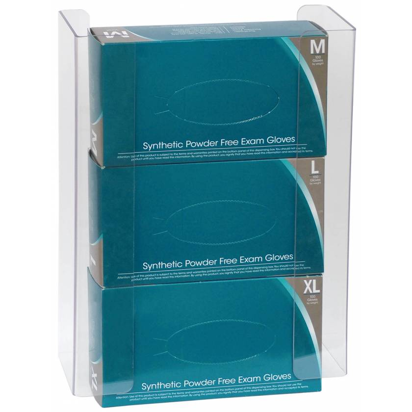 Clear PETG Glove Box Holder - Triple