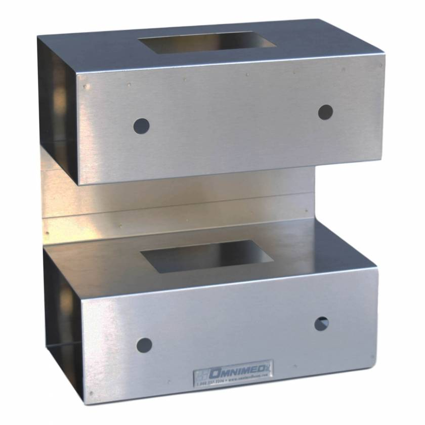 OmniMed 305385 Stainless Steel Top Open Double Glove Box Holder