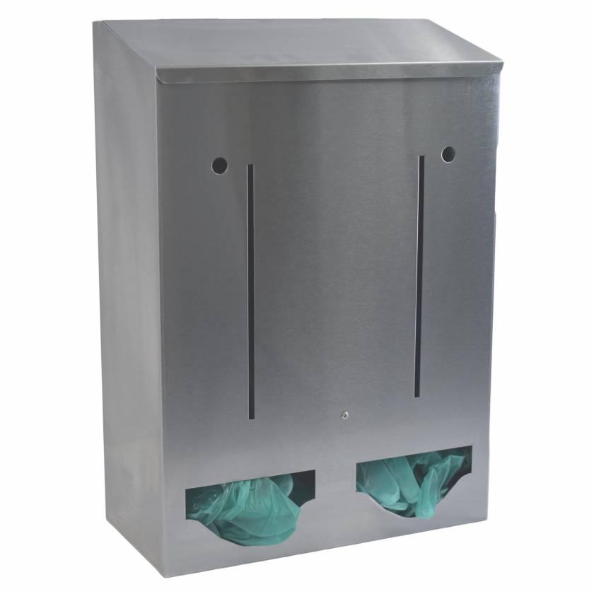 OmniMed 307022 Stainless Bulk Dispenser - Double Compartment