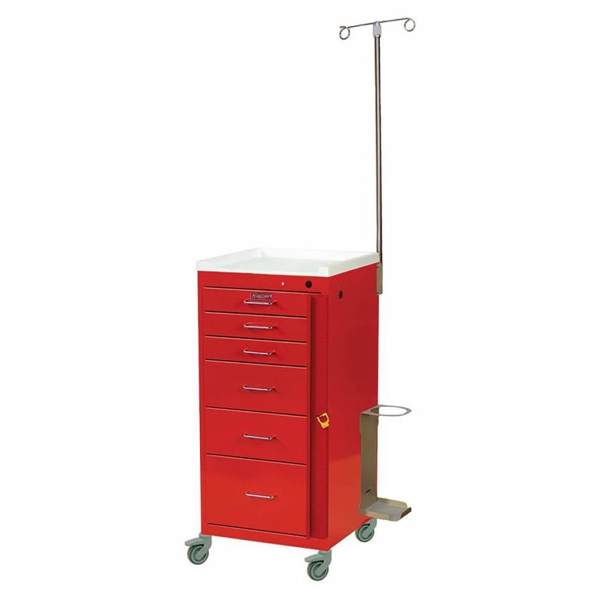 Harloff 3156B-EMG Mini Line Emergency Cart Tall Six Drawer with Breakaway Lock & Specialty Accessory Package