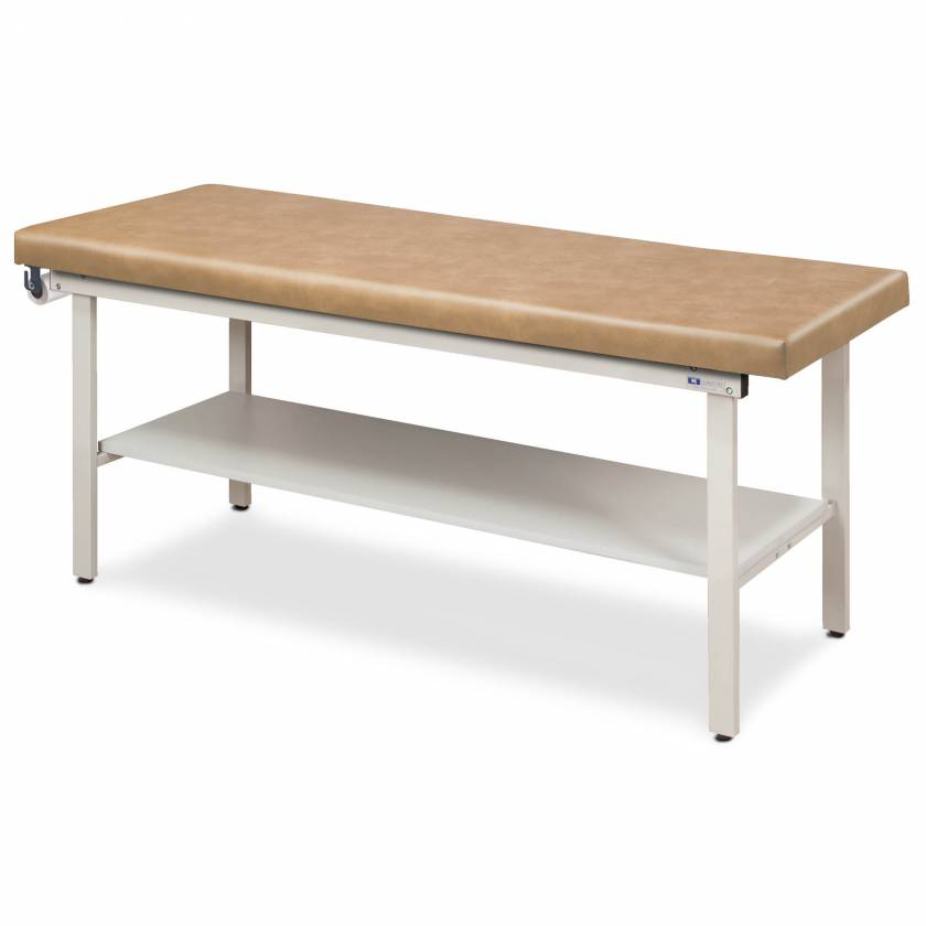 Clinton Model 3200 Flat Top Alpha-S Series Straight Line Treatment Table with Full Shelf