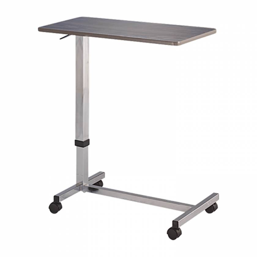 Blickman Model 3400 Overbed Table - Wood Grain with One-Touch Adjustment