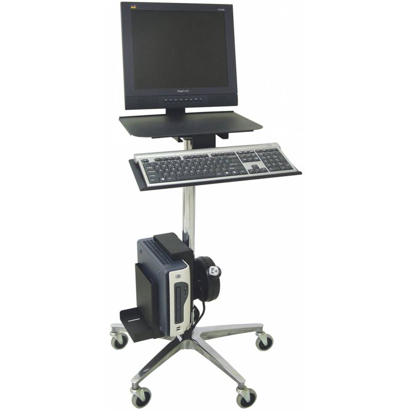 Computer Transport Stand With Cord Reel