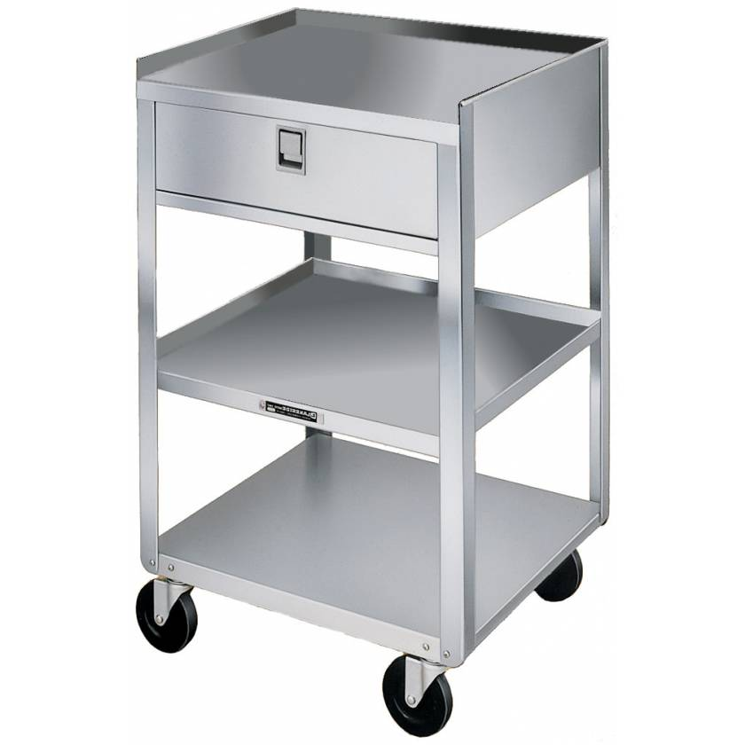 Lakeside Stainless Steel Utility Tables - One Drawers - Three Shelves