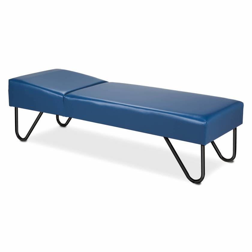 Clinton Model 3600 Recovery Couch with Black Powder-Coated SteelLegs