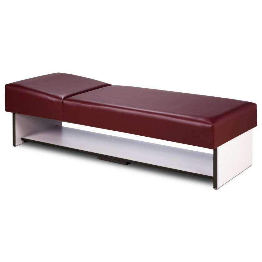 Clinton 3710-10 Panel Leg Recovery Couch with Full Shelf & Non-Adjustable Pillow Wedge