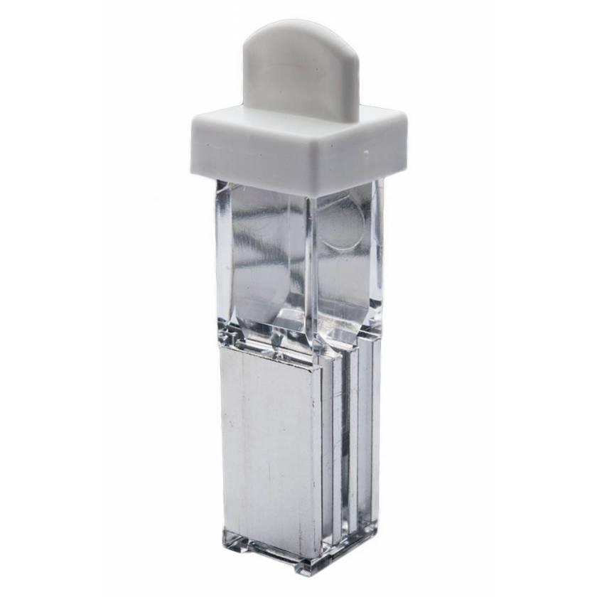 1 mm Gap Sterile Electroporation Cuvette Square Lid