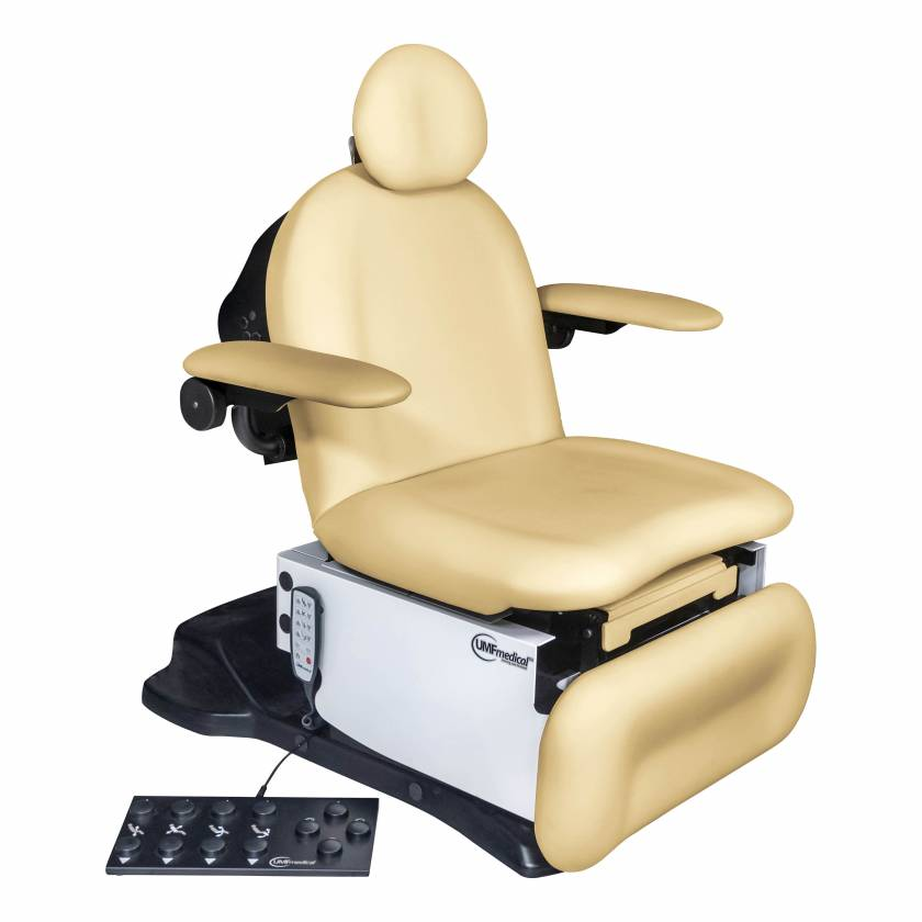 Model 4010-650-200 Power4010p Head Centric Procedure Chair with Programmable Hand and Foot Controls - Lemon Meringue