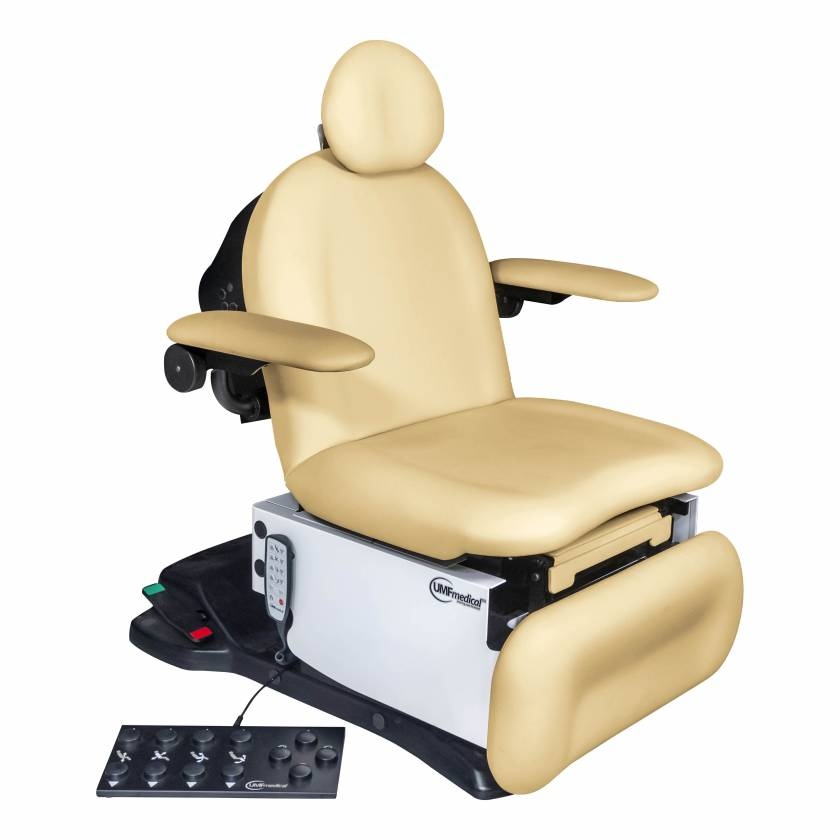 Model 4010-650-300 ProGlide4010 Head Centric Procedure Chair with Wheelbase, Programmable Hand and Foot Controls - Lemon Meringue