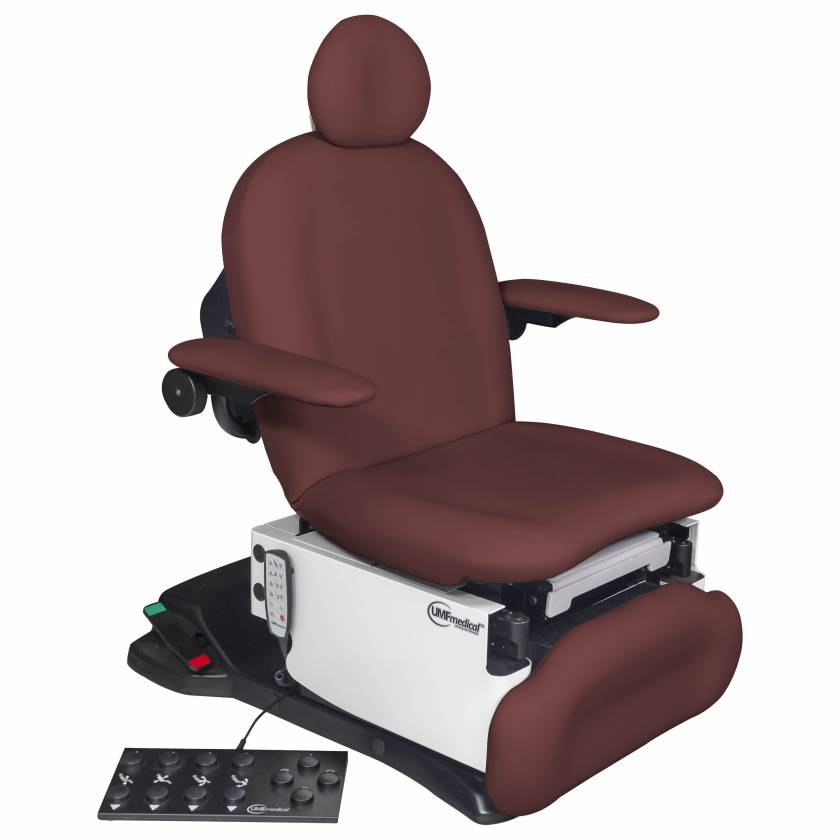 Model 4011-650-300 ProGlide4011 Ultra Procedure Chair with Wheelbase, Programmable Hand and Foot Controls - Fine Wine