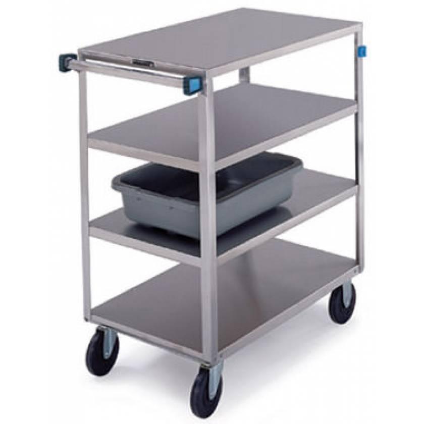 Lakeside SS Medium Duty Multi-Shelf Carts - All Edges Down - Perimeter Bumper (4 and 8-Shelf)