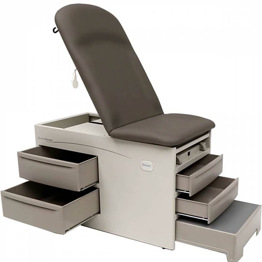 Brewer Access Exam Table with Pneumatic Back, No Electrical Outlet