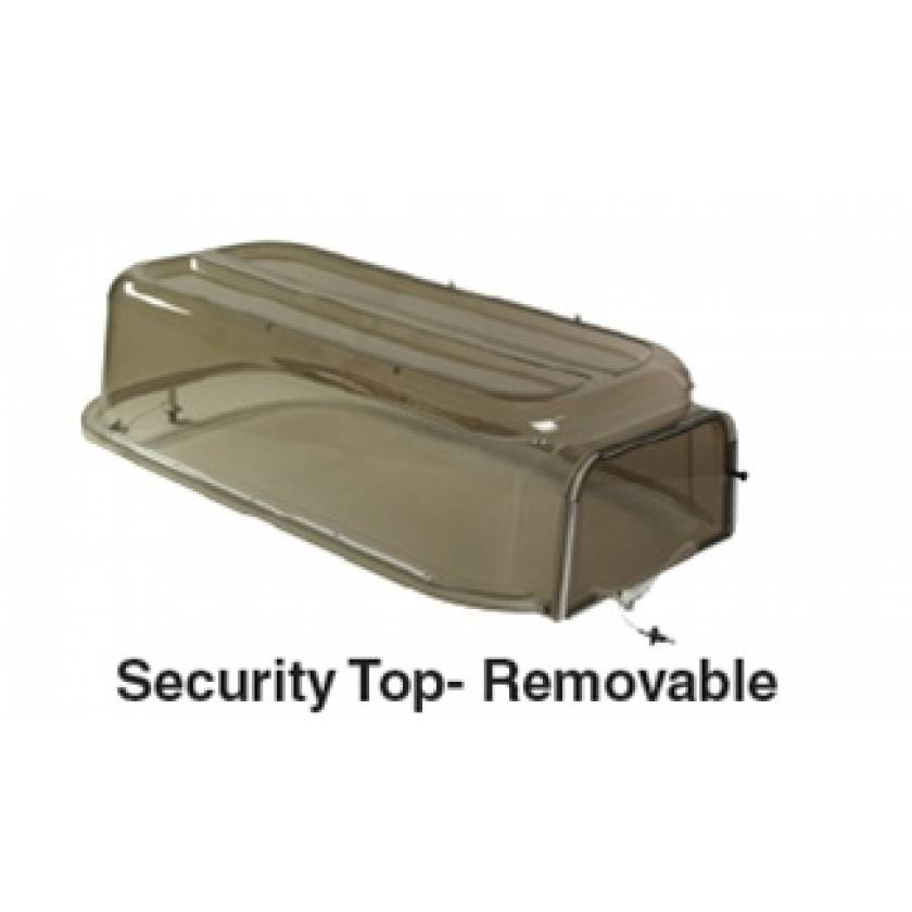 Pedigo Croupette Security Top With Removable End For Model P-500