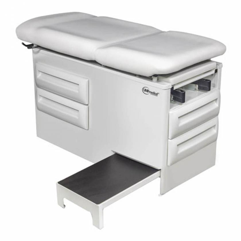 Model 5240-145 Signature Series proSideStep Manual Exam Table with Side Step and Four Storage Drawers