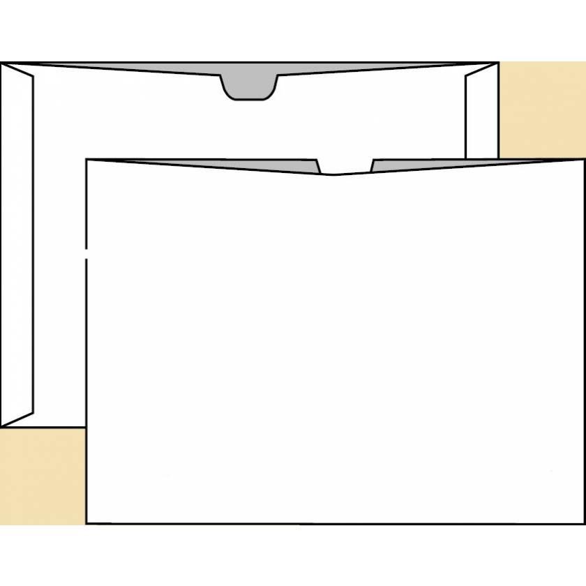 "14 1/2"" x 17 1/2"" Open Top Negative Preserver - Brown Kraft - Unprinted"