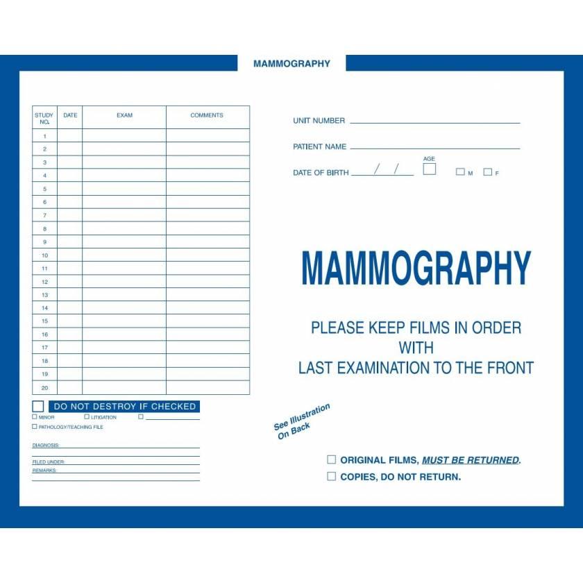 Insert Envelopes - Mammography