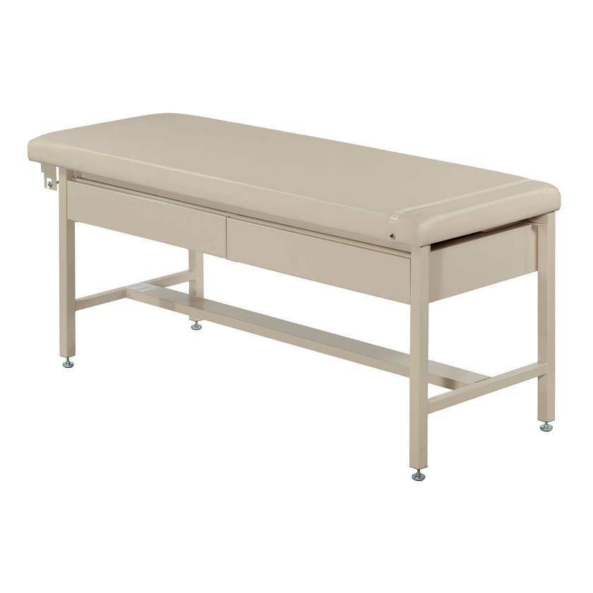 Model 5585 H-Brace Treatment Table with Two Drawers (Optional Paper Rod Holder and Paper Cutter Band not included)