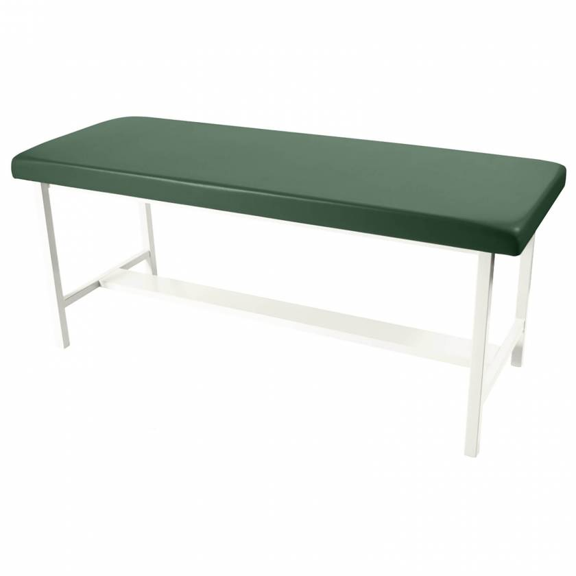 Model 5588 H-Brace Treatment Table. Table shown in Sage upholstery color. This color is no longer available.
