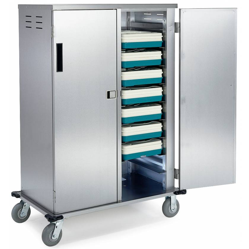 Lakeside Stainless Steel Elite Enclosed Tray Delivery Carts