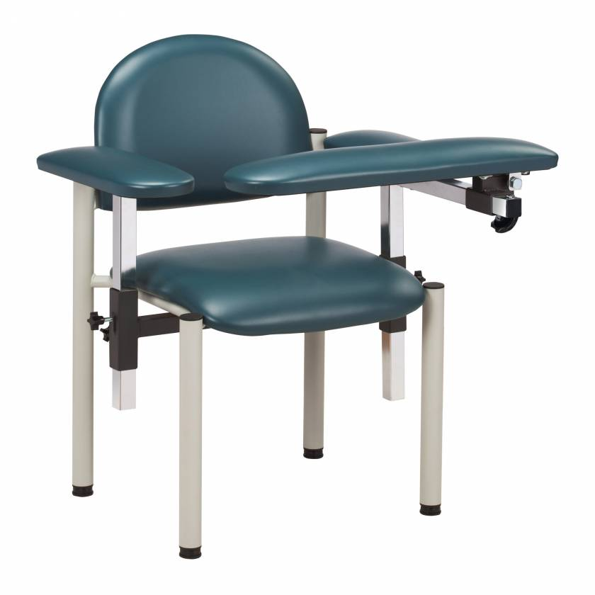 Clinton SC Series Padded Blood Drawing Chair with Padded Arms - Model 6050-U
