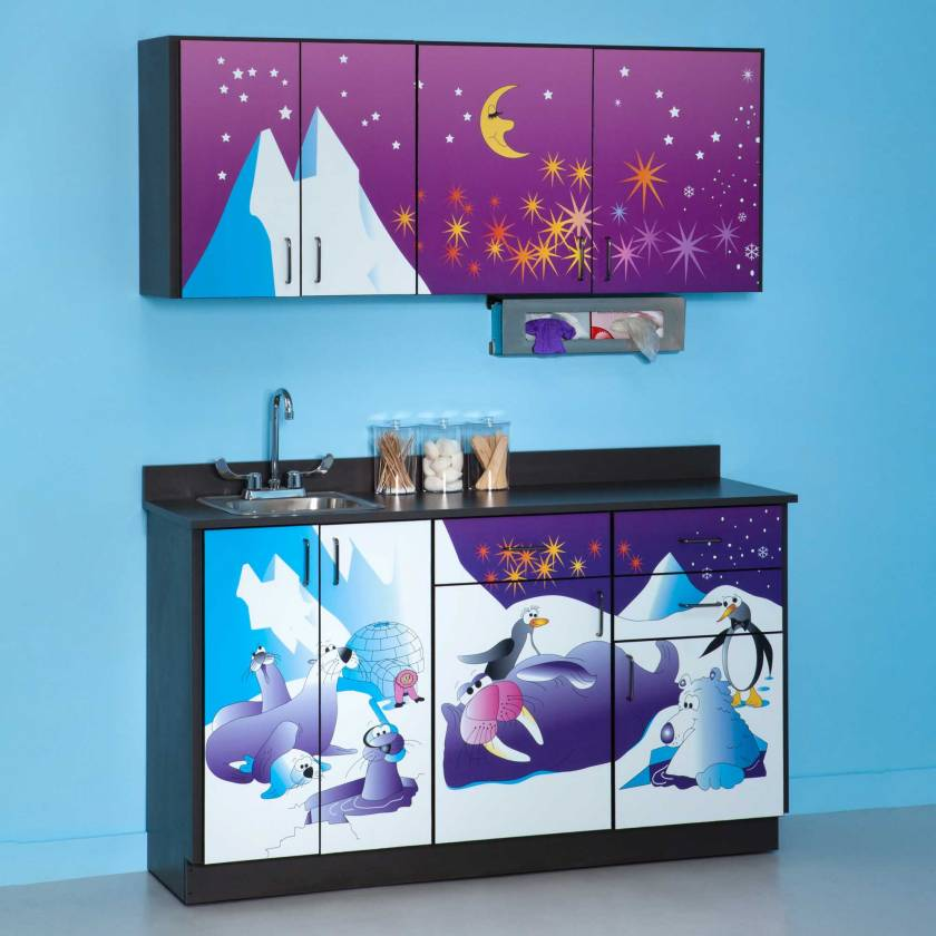 Clinton Pediatric Theme Base & Wall Cabinets - Cool Pals