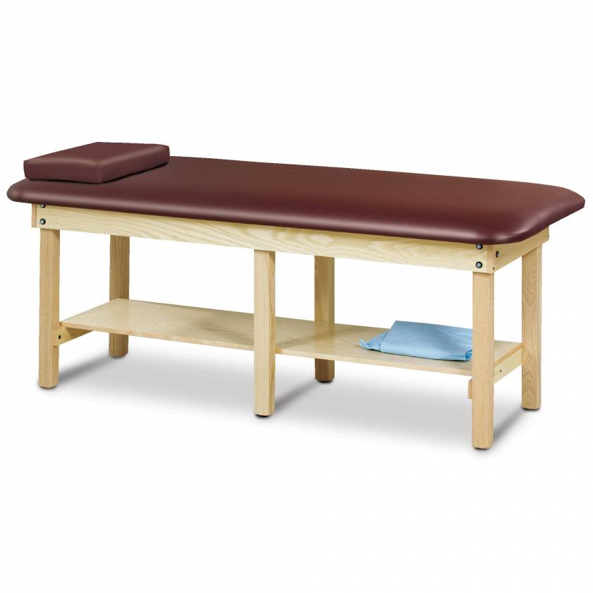 Clinton Model 6190 Classic Series Bariatric Treatment Table with Shelf