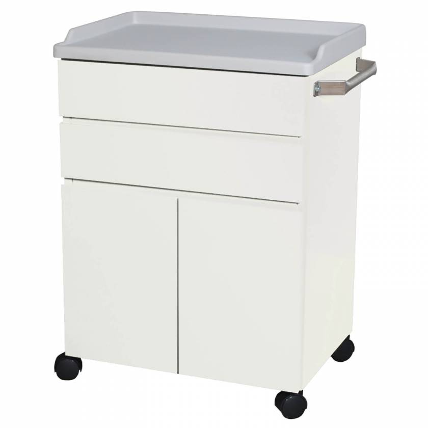 Model 6214 Mobile Treatment Cabinet with Two Drawers and Two Doors