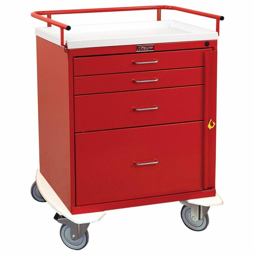 Harloff 6300 Classic Line 4 Drawer Emergency Cart Breakaway Lock