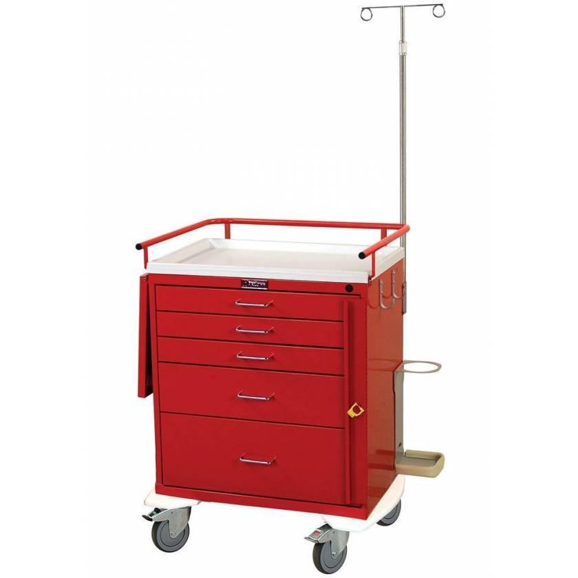 Harloff 6331 Emergency Cart 5 Drawer Breakaway Lock Accessory Package