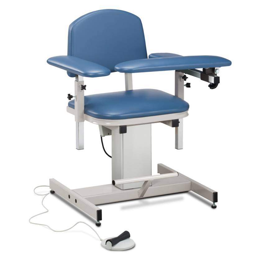Clinton Power Series Blood Drawing Chair with Padded Arms Model 6341